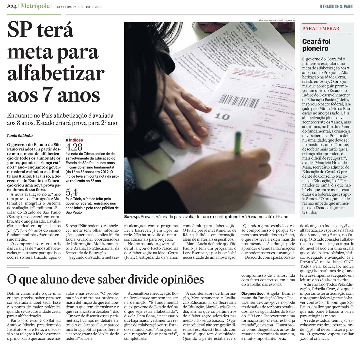 [SP - 1]  ESTADO/PRIMEIRA/PÁGINAS ... 12/07/13