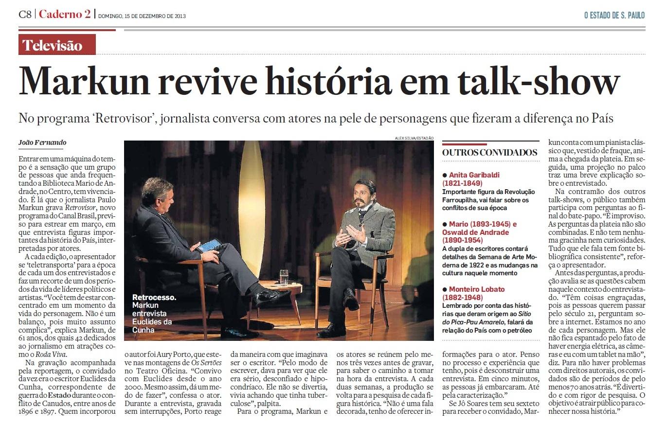O Estado de S. Paulo 15.12.2013