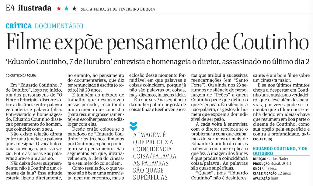 Folha de S. Paulo - 21.02.2014
