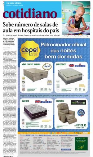 Capa Cotidiano Folha de S. Paulo - 22.06.2014