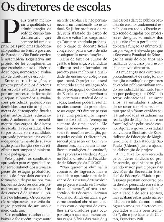 Editorial Estadao 01.07.2014