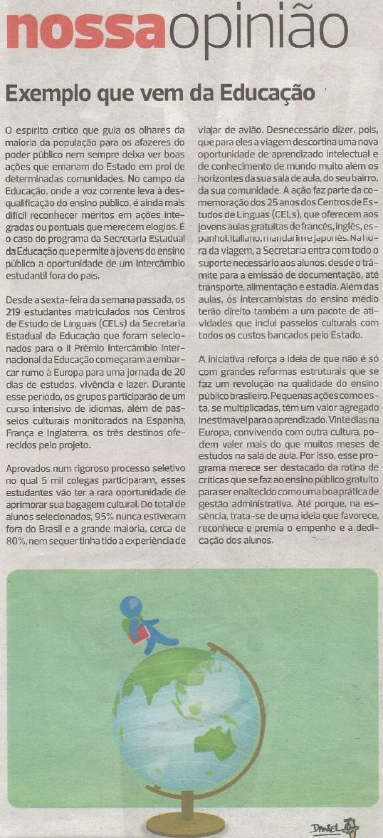 Editorial Diario de SP - 30.11.2014