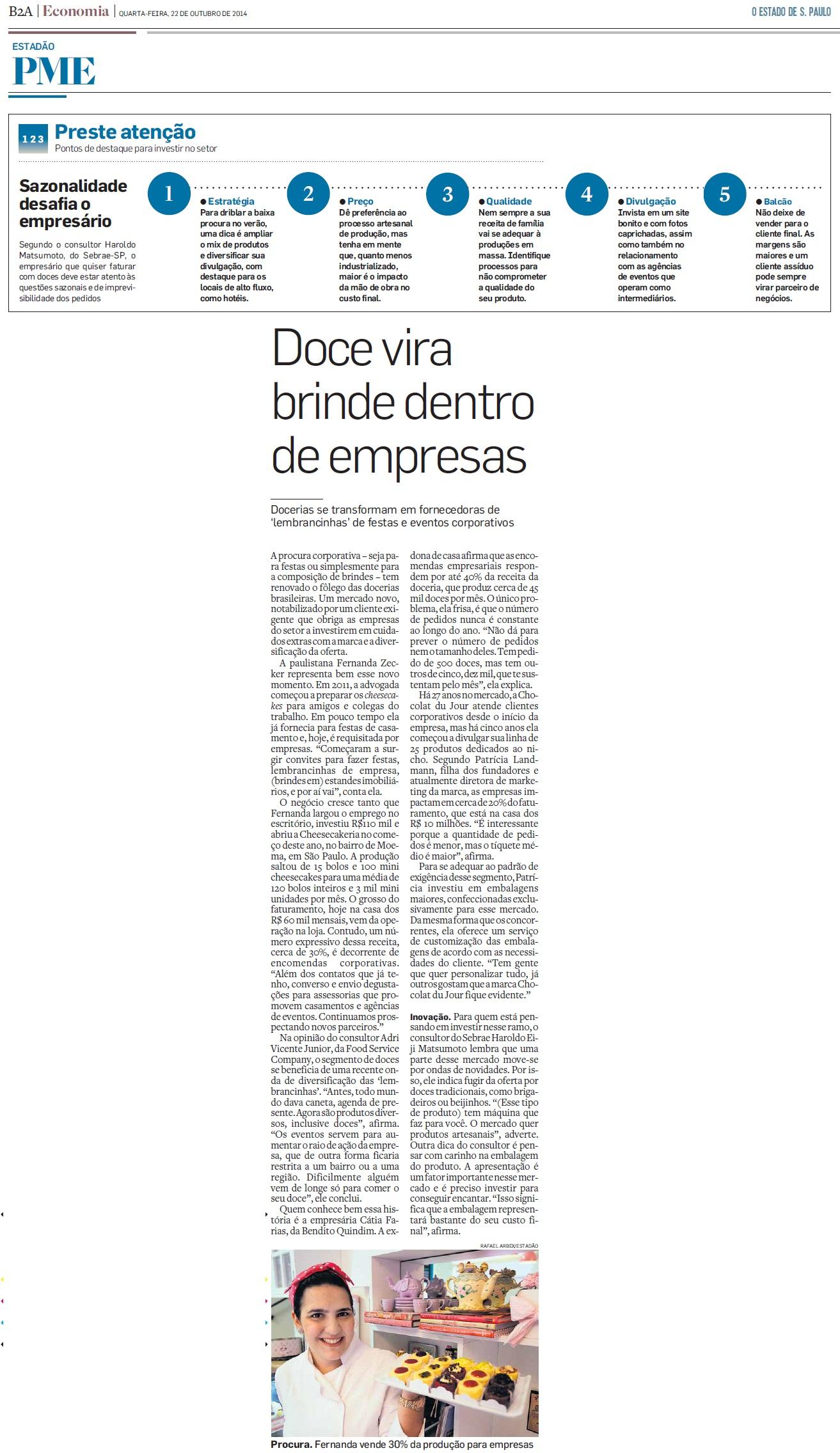 O Estado de S. Paulo - PME - 22.10.2014