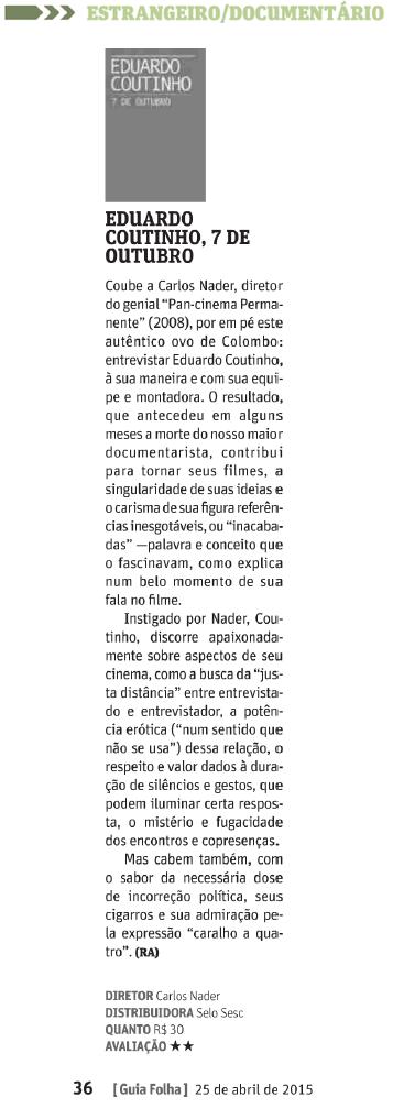 Guia Mensal da Folha - 25.04.2015