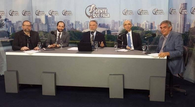 Da esquerda para a direita: Marco Vinício Petrelluzzi, Felipe Sigollo, Zancopé Simões, Fábio Mazzeo e Paulo Markun.